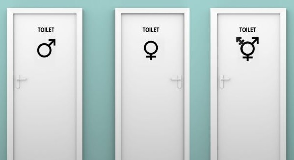 Kadın erkek ve ortak cins 3 çeşitr wc