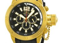 Invicta Russian Diver Signature 2 Black Dial Chronograph Erkek saati