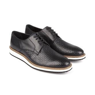 Siyah-antik-klasik- hasır-ayakkabi
