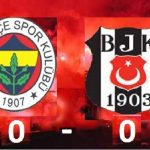 Fenerbahçe 0 – Beşiktaş 0